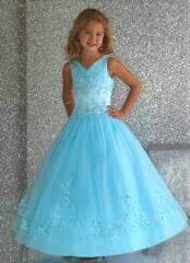 blue pageant dress