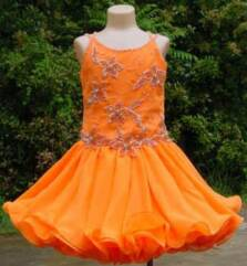 orange pageant dress
