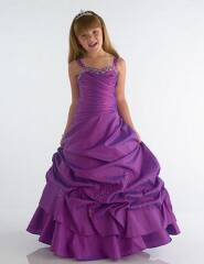 purple pageant dress